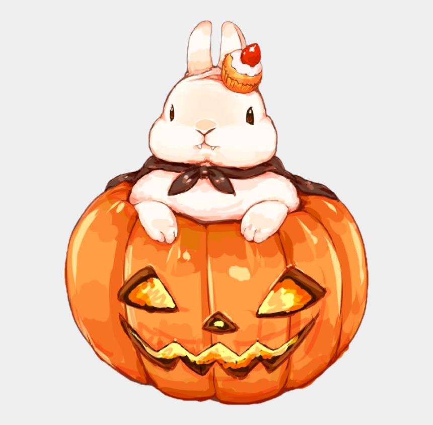 halloween jack o lantern clip art, Cartoons - #kawaii #halloween #rabbit - Kawaii Jack O Lantern
