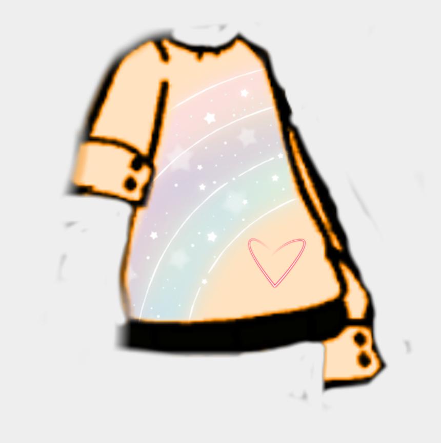 big heart clip art, Cartoons - #gacha #gachalife #neon #rainbow #shirt #big #heart - Gacha Life Transparent Shirts