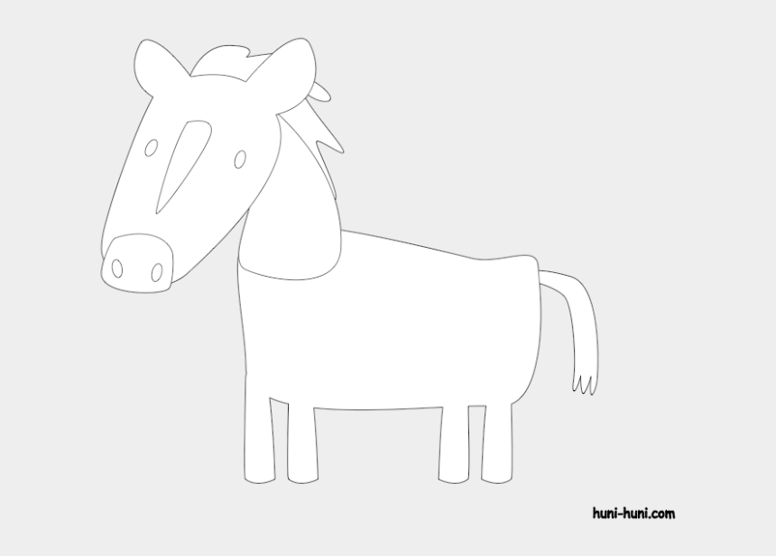 horse outline clip art, Cartoons - Huni Huni Flashcard Coloring Page Outline Kabayo Horse - Line Art
