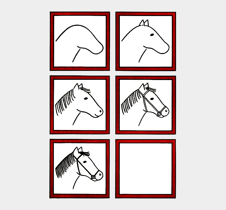 horse face clip art, Cartoons - Easy Step By Step How To Draw