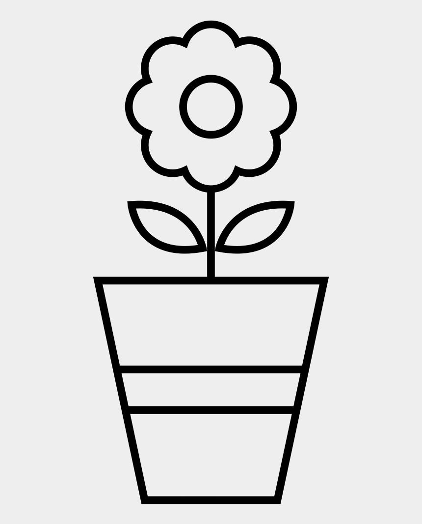dogwood flower clip art, Cartoons - Flower Pot Coloring Page - Vaso De Flor Para Colorir