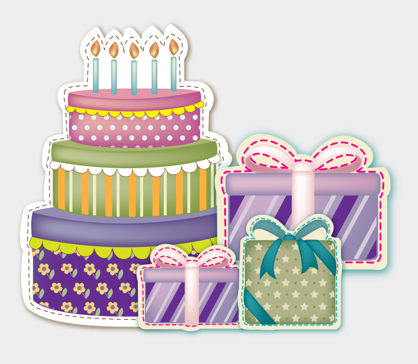 birthday cake graphics clip art, Cartoons - Do You Want To Celebrate Birthday With Science - Birthday Cake And Gifts Png