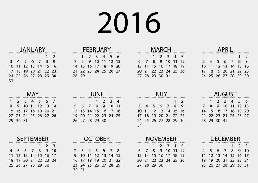 clip art calendar 2016, Cartoons - Free Printable 2020 Calendar With Holidays