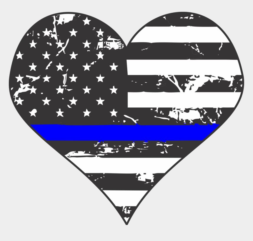 thin blue line clip art, Cartoons - Thin Blue Line Heart Transparent
