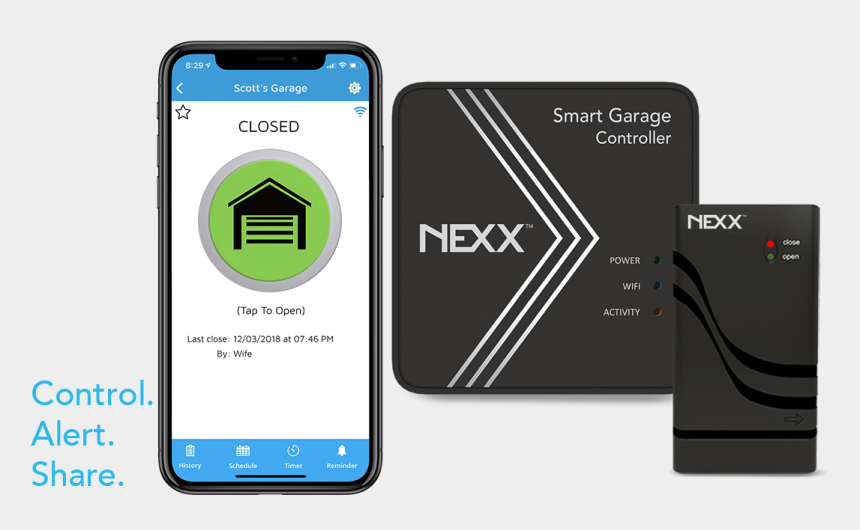 garage door clip art, Cartoons - Nxg200 Nxg 200 Nexx Smart Garage Controller Wifi Door - Smartphone