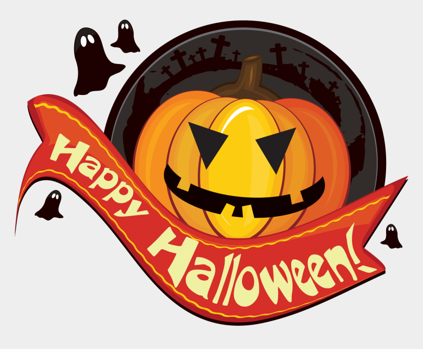 happy pumpkin clip art, Cartoons - Scary Happy Halloween Clip Art