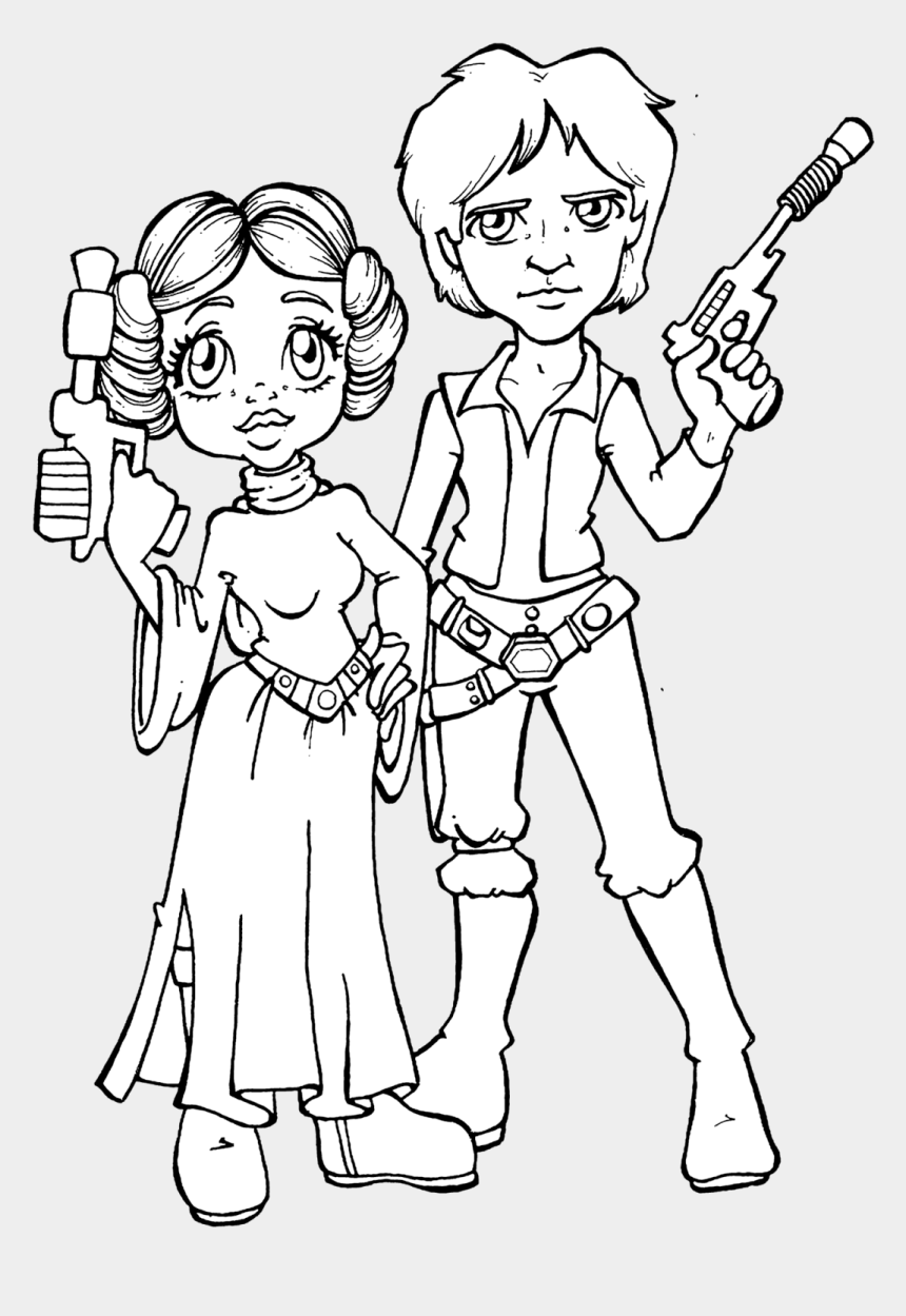 princess leia clip art, Cartoons - Star Wars Drawings Hon And Lea