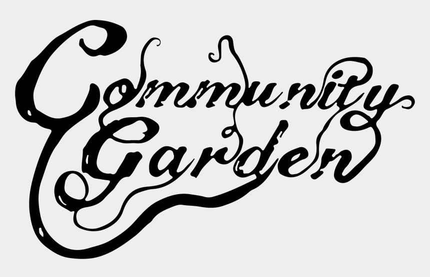 """community garden clip art, Cartoons - Community Garden""""s - Calligraphy"""