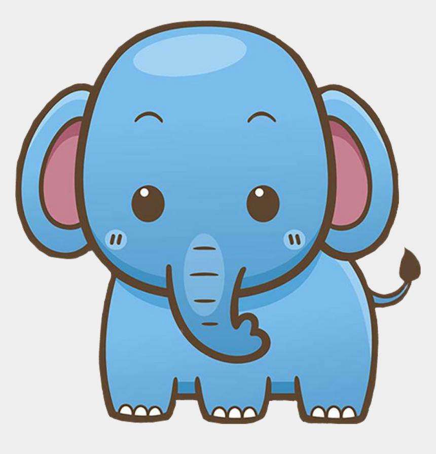 blue elephant clip art, Cartoons - Elephant Blue Sticker Animal Blueelephant Clipart Clipa - Kawaii Cute Cartoon Elephant
