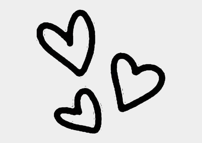 cute heart clip art, Cartoons - #kawaii #cute #heart #hearts #black #overlay #png #tumblr - Transparent Transparent Background Cute Png Hearts