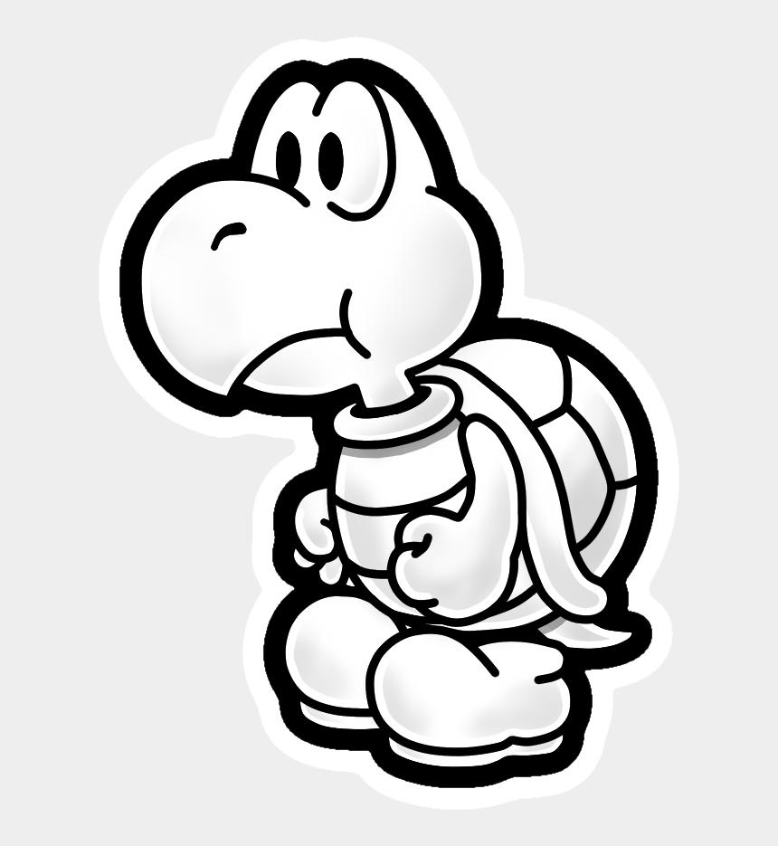 blank face clip art, Cartoons - Super Paper Mario Koopa Clipart , Png Download - Koopa Troopa Paper Mario