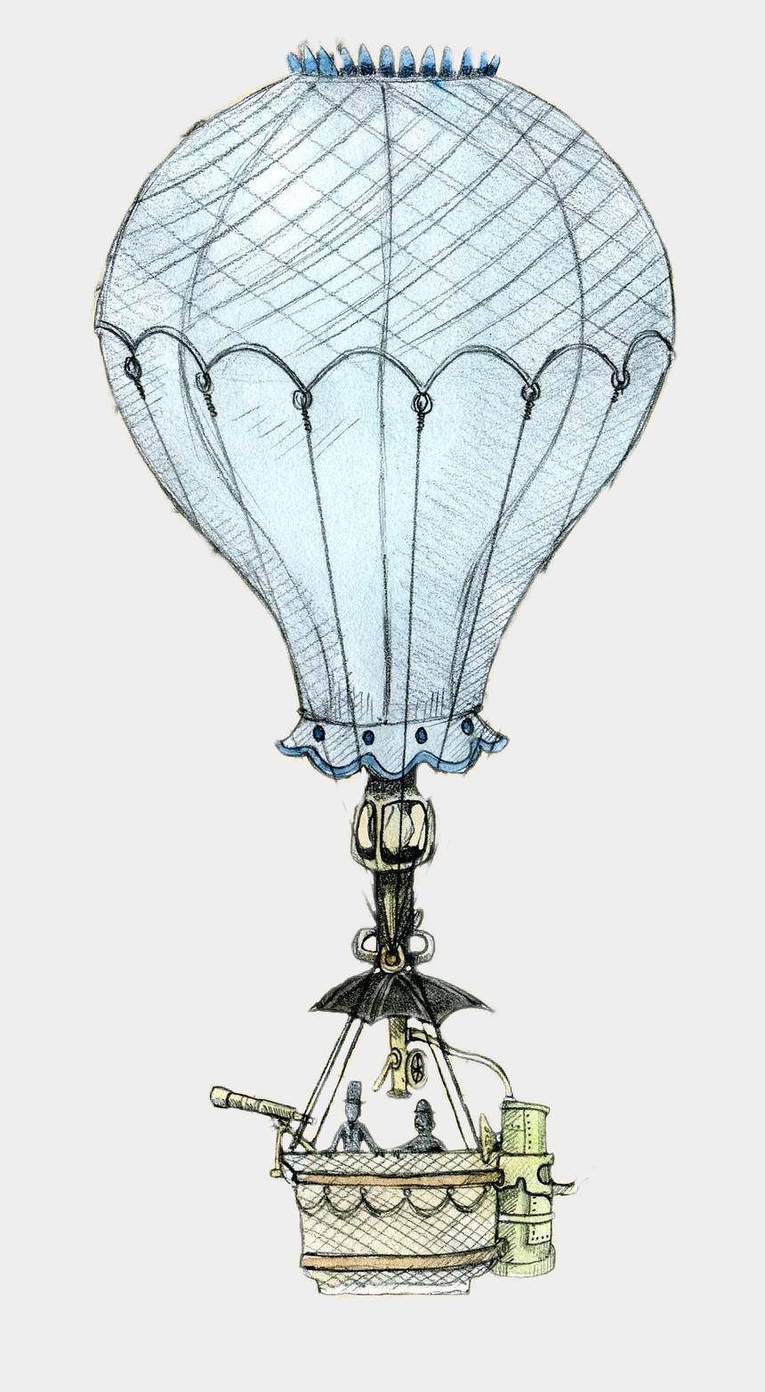 vintage hot air balloon clip art, Cartoons - Victorian Lady Hot Air Balloon - Vintage Hot Air Balloon Png