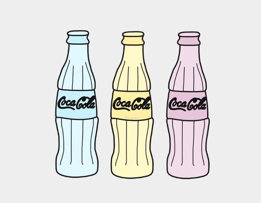coke bottle clip art, Cartoons - #cute #aesthetic #interesting #art #overlay #stickers - Sticker Aesthetic Coca Cola
