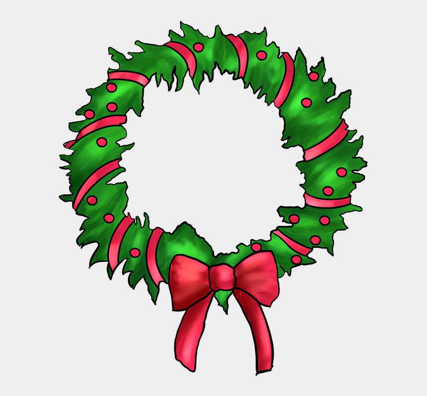 christmas wreath clip art, Cartoons - Christmas Wreath Border Clipart - Pink Christmas Wreath Clipart