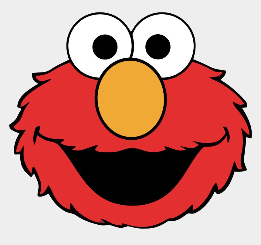 christmas cookies clipart, Cartoons - Elmo Ernie Cookie Monster Big Bird Clip Art - Sesame Street Elmo Head