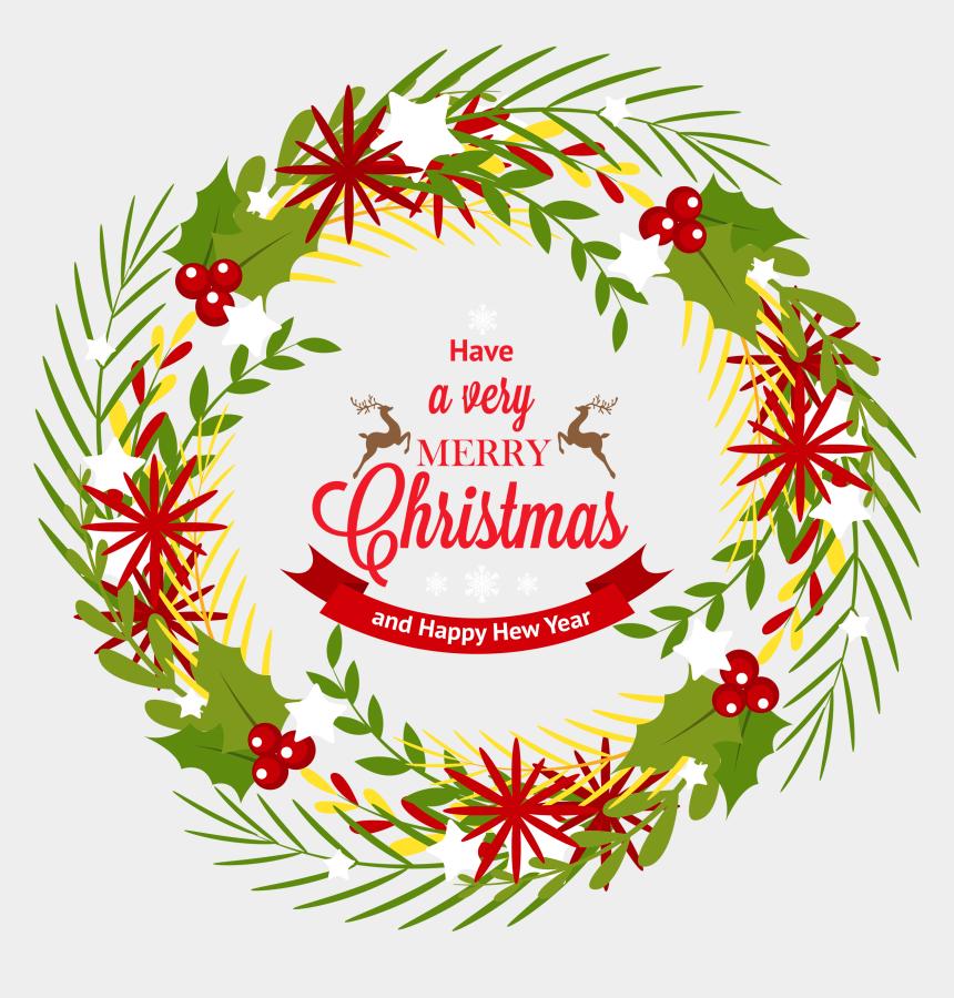 christmas wreath clip art, Cartoons - Christmas Wreath With Mistletoe Png Clipart - Christmas Mistletoe Png