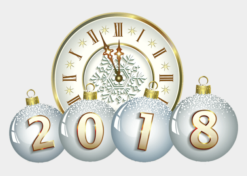new years eve clipart, Cartoons - Year S Day Christmas - Happy New Year 2018 Clock
