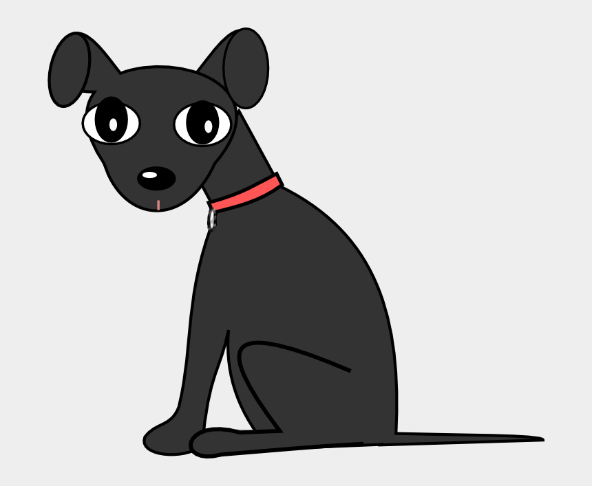 clip art dog, Cartoons - Black Dog Clipart - Clip Art Black Dog