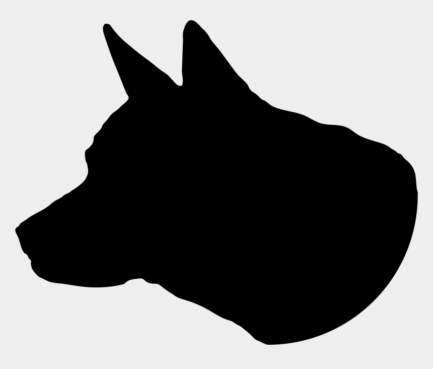 clip art dog, Cartoons - Dog Head Silhouette - Husky Head Silhouette Png