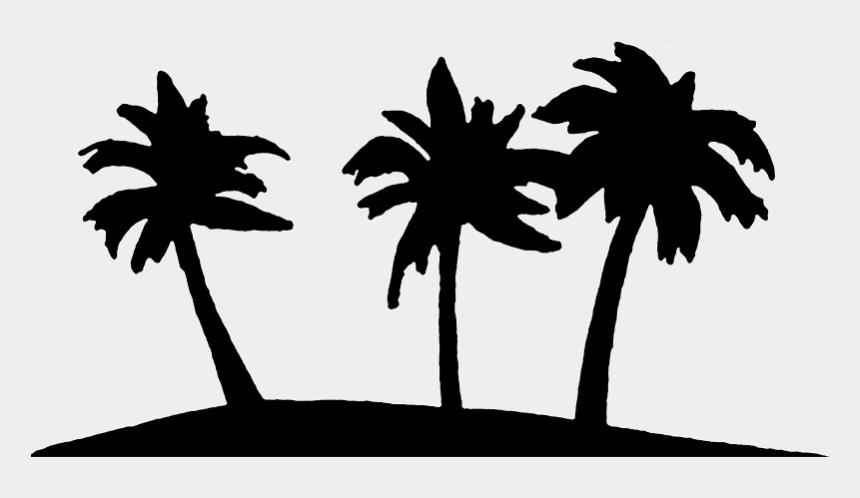 tropical clipart, Cartoons - Palm Tree Clipart Tropical Three - Palm Tree Clipart Black And White Transparent
