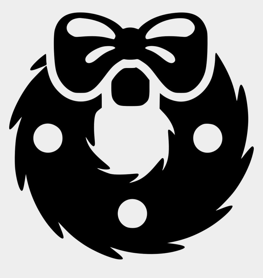 christmas wreath clip art, Cartoons - Christmas Wreath Comments - Christmas Wreath Icon Black