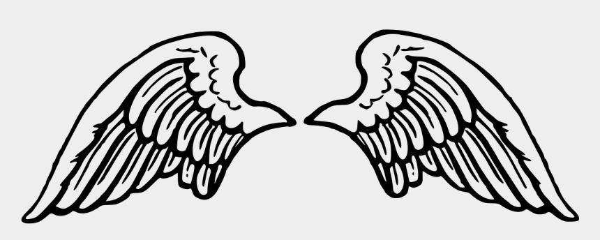 angel wings clipart, Cartoons - Wing Spread Angel Flying Peace Png Image - Angel Wings Svg Free