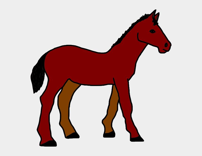 horse clip art, Cartoons - Brown Horse Svg