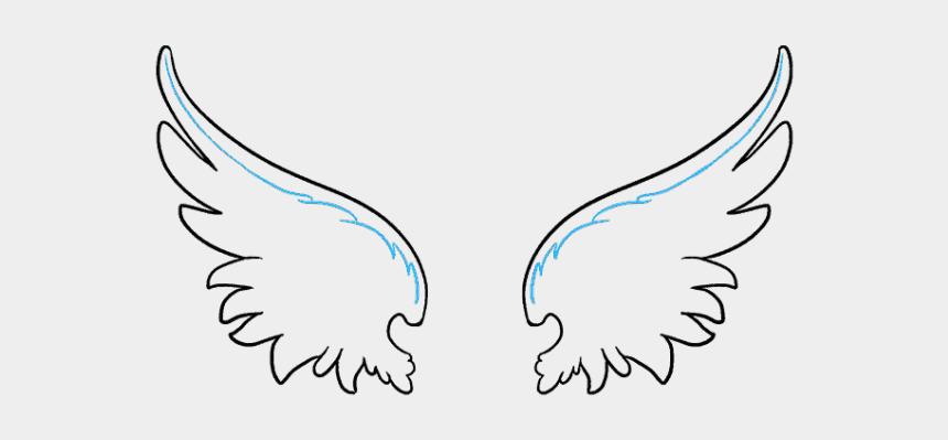 angel wings clipart, Cartoons - Simple Angel Wings Drawing - Wings Drawings