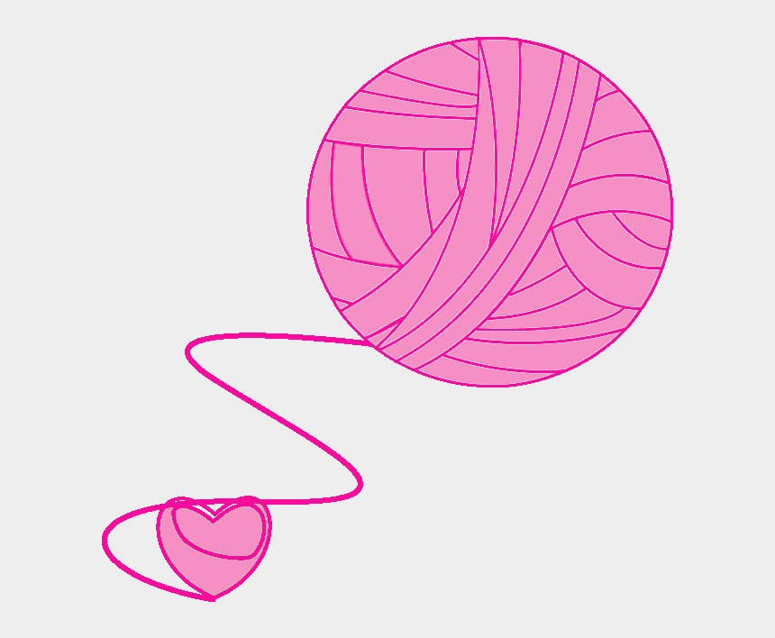yarn clipart, Cartoons - Download Crochet Clipart Pink Yarn - Imagens Em Png De Crochê