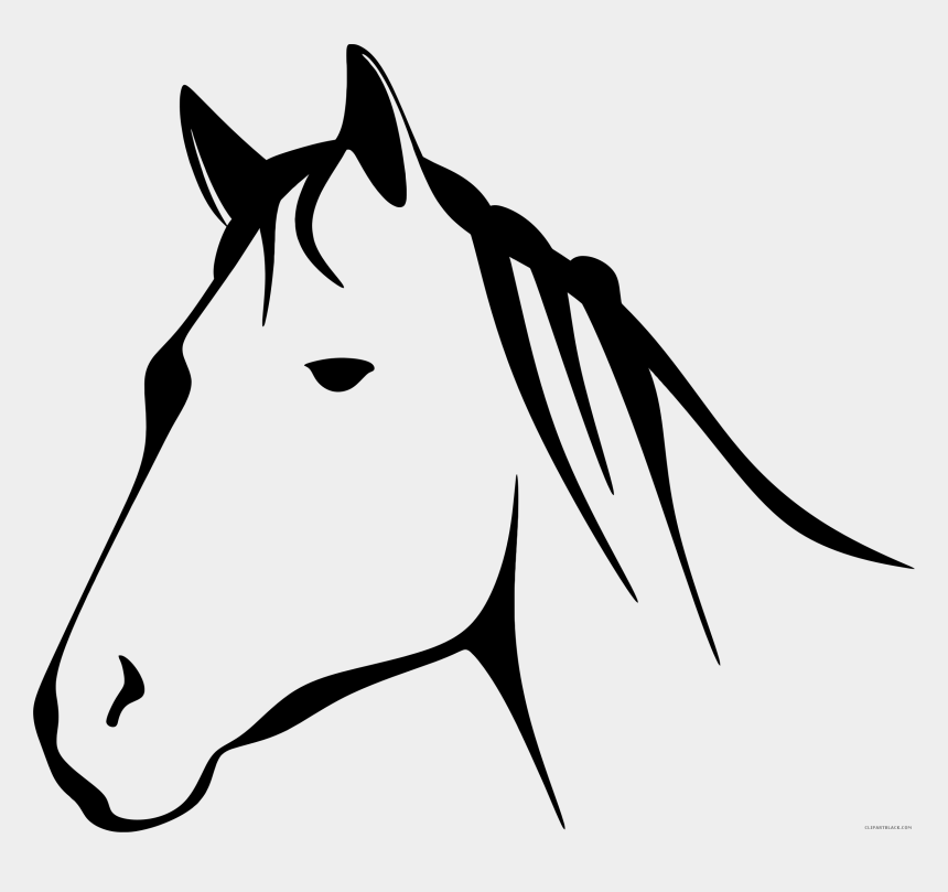 horse clip art, Cartoons - Stylized Horse Line Art - Transparent Background White Horses Png