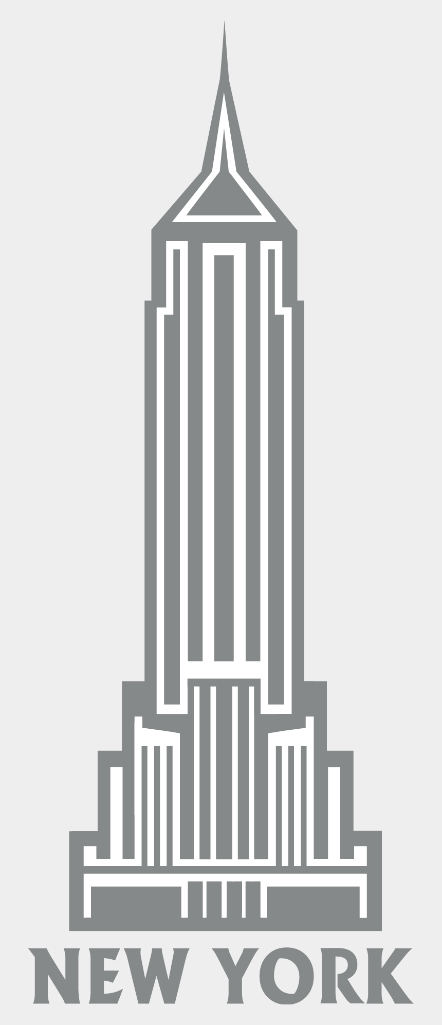new york clipart, Cartoons - Empire Clipart New York Building - Empire State Building Stencil