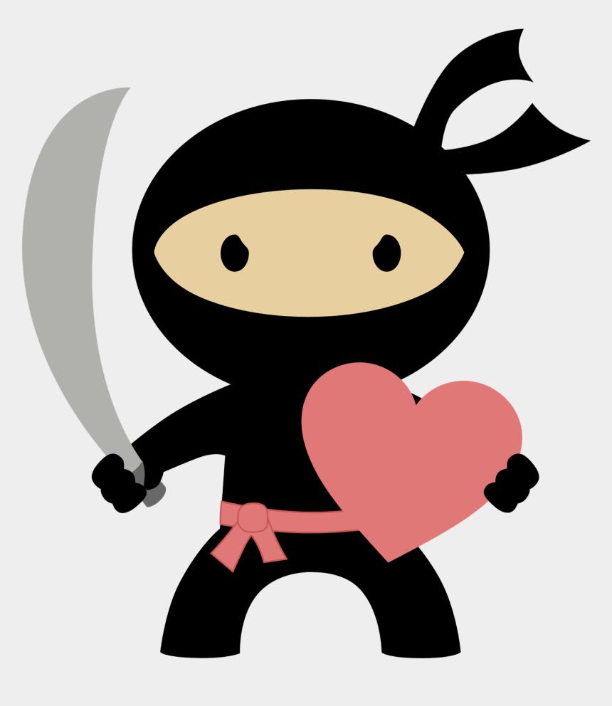 love clip art, Cartoons - Ninja In Love Clipart - Free Ninja Birthday Invitations