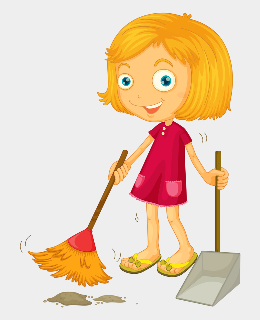Deti Rabotayut Sweeping The Floor Clipart Cliparts