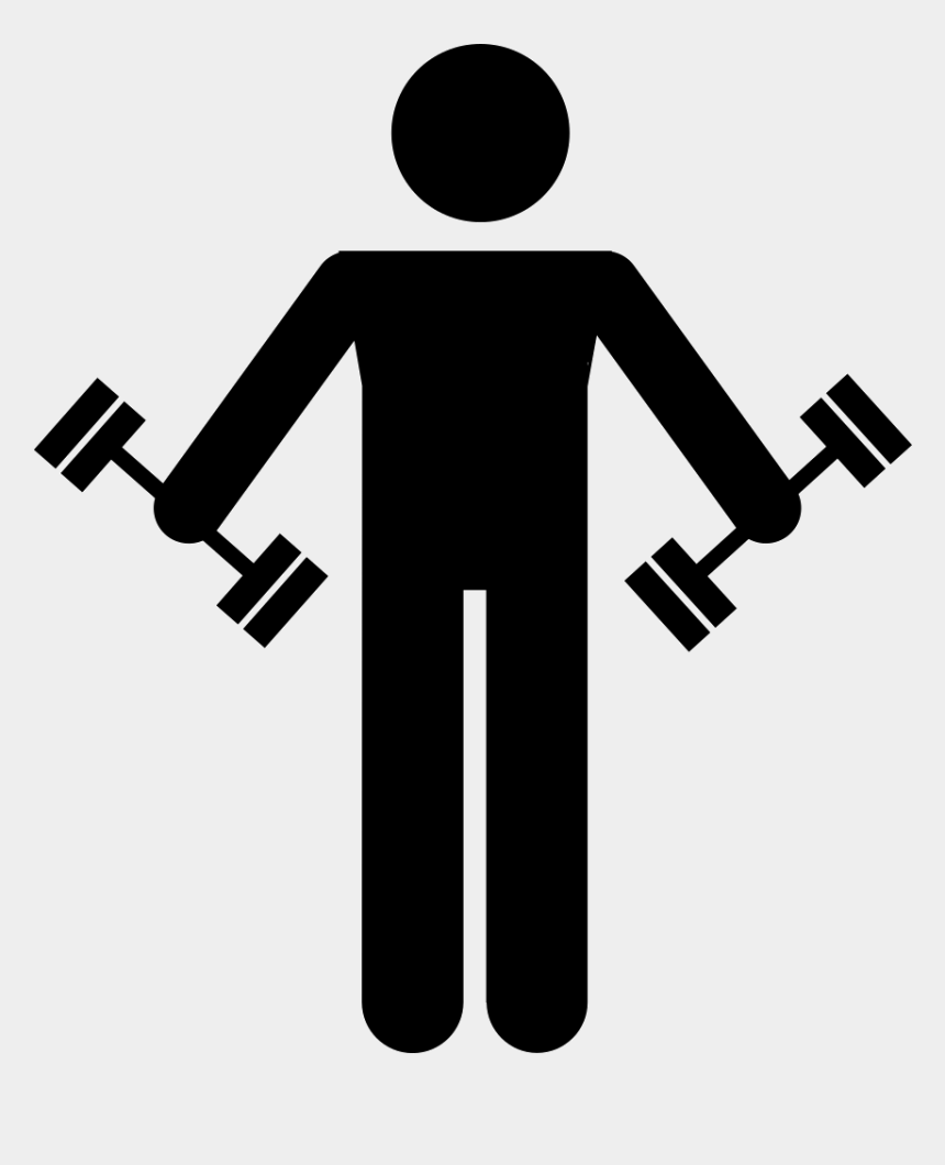 weightlifting clipart, Cartoons - Dumbbell Icon Png - Man Lifting Weights Icon