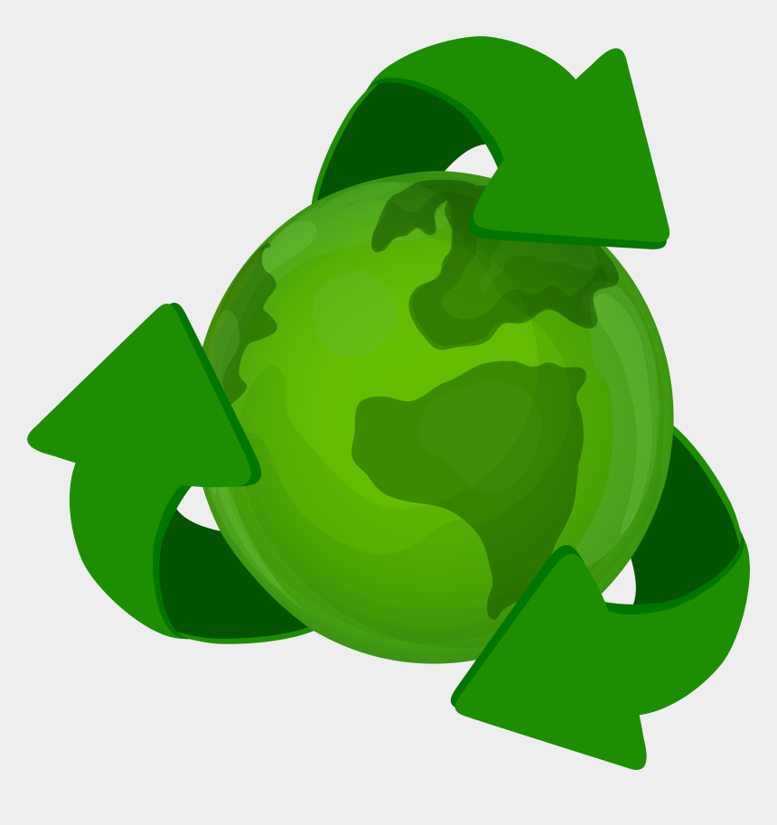 recycle clip art, Cartoons - Green Earth Planet With Recycle Symbol Png Clip Art