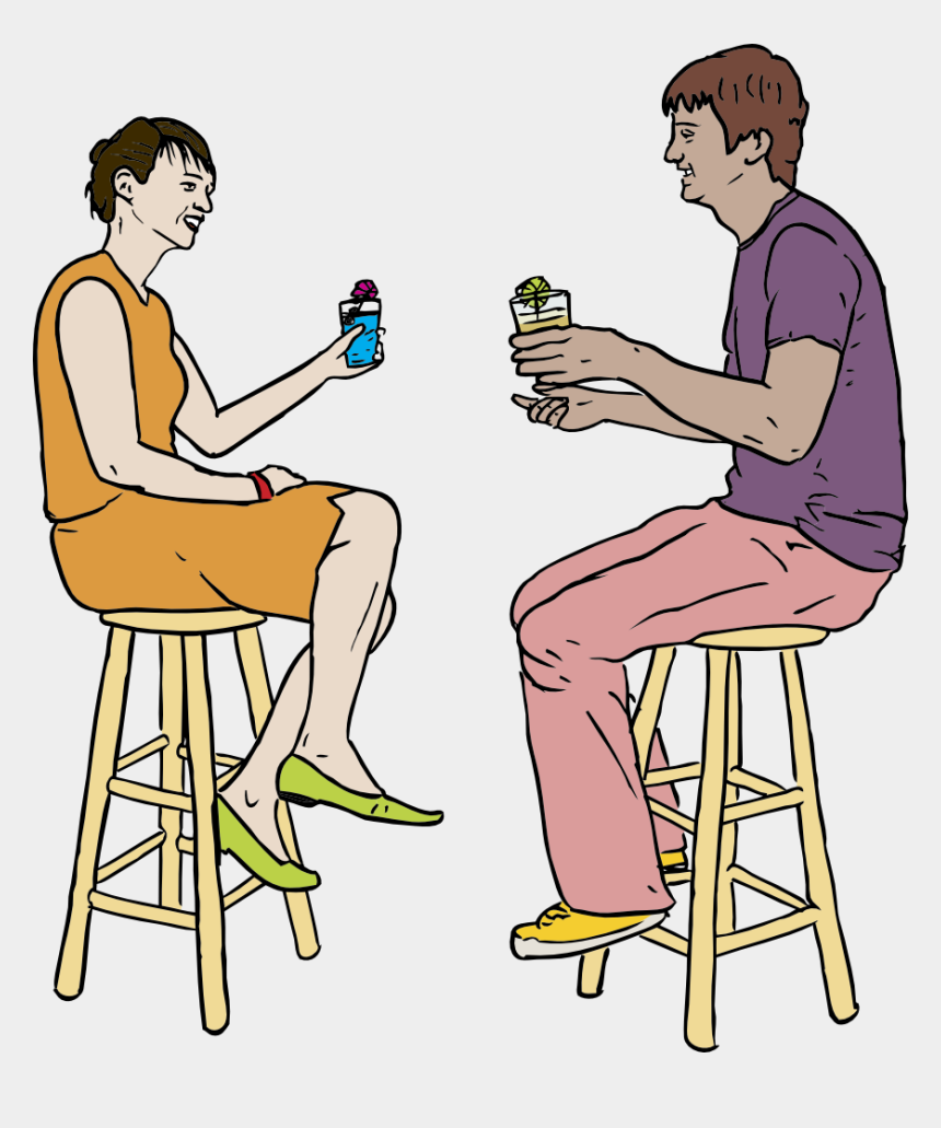 drinks clipart, Cartoons - People Drinking Clipart