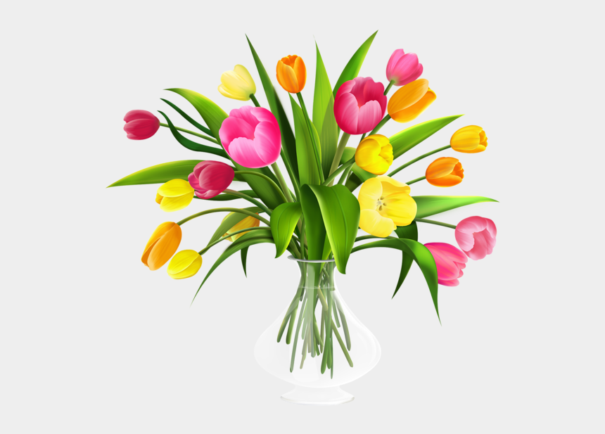 tulips clipart, Cartoons - Tulips - Transparent Background Flower Bouquet Clipart