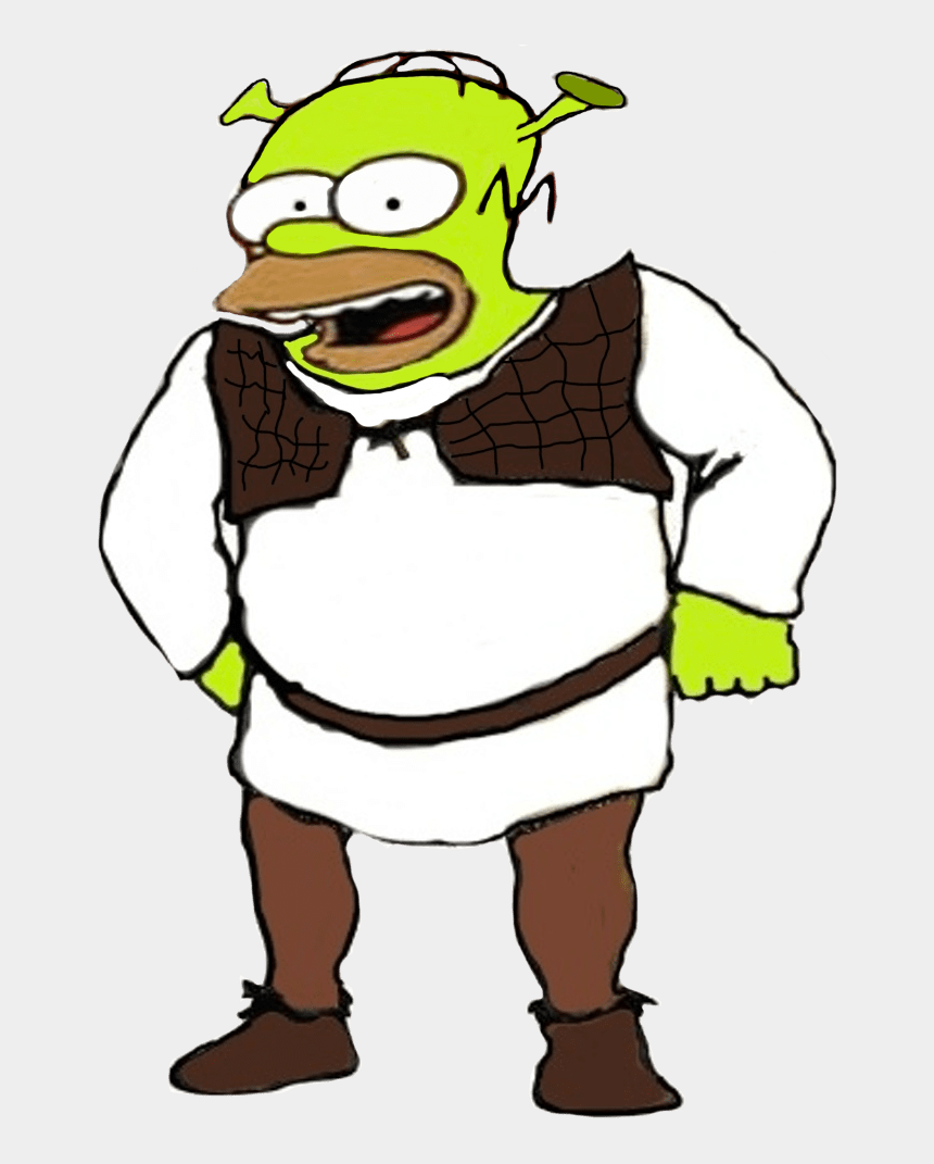 x ray clipart, Cartoons - Shrek X Homer Clipart - Homer Simpson As Shrek