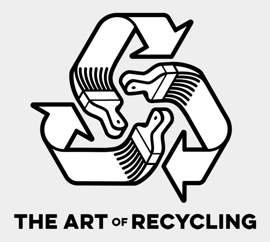 recycle clip art, Cartoons - The Art Of Recycling Logo - Recycle Symbol Clipart Black And White