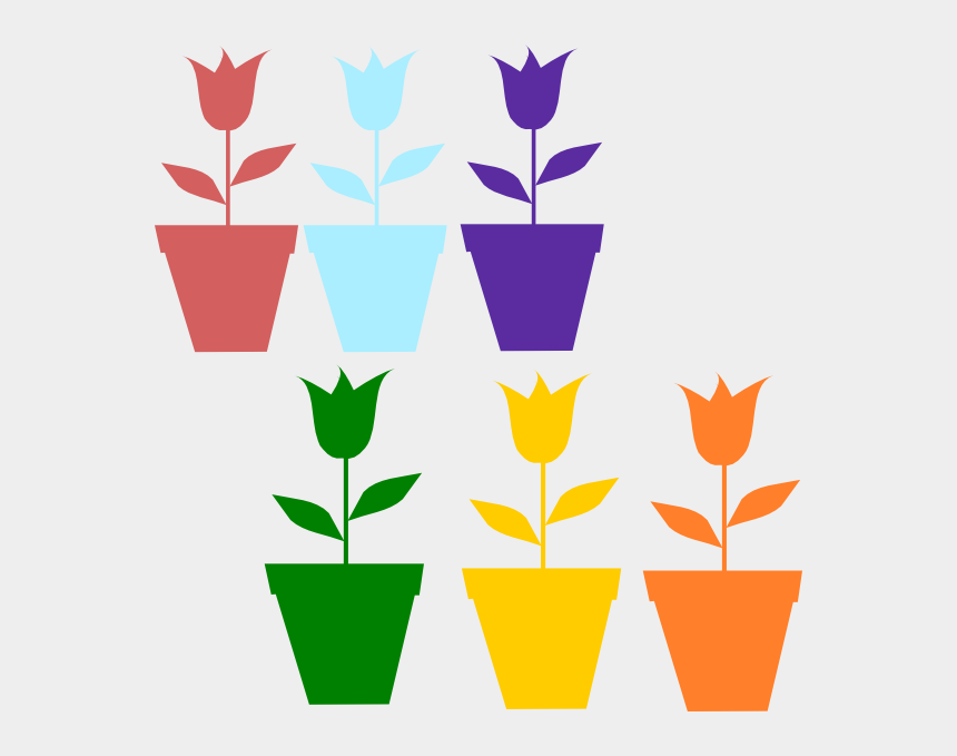 tulips clipart, Cartoons - Tulips In Pot Silhouettes Clip Art - Desenho De Tulipa Amarela