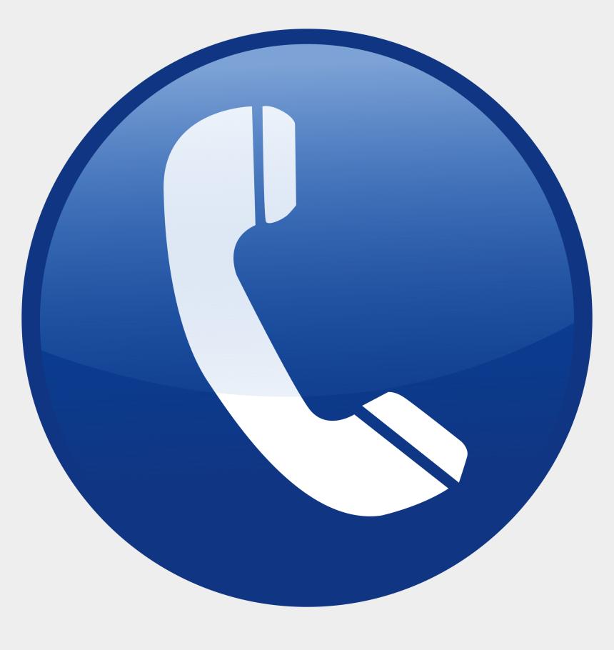 contact us clipart, Cartoons - Contact Us - Icono De Telefono Azul