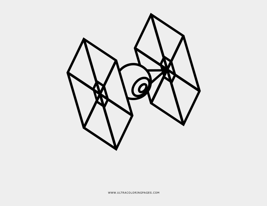 Tie Fighter Coloring Page, Cliparts & Cartoons - Jing.fm