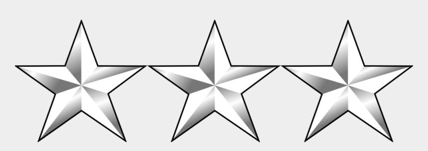 contact us clipart, Cartoons - Three Star Clipart 4 - 3 Star General Insignia