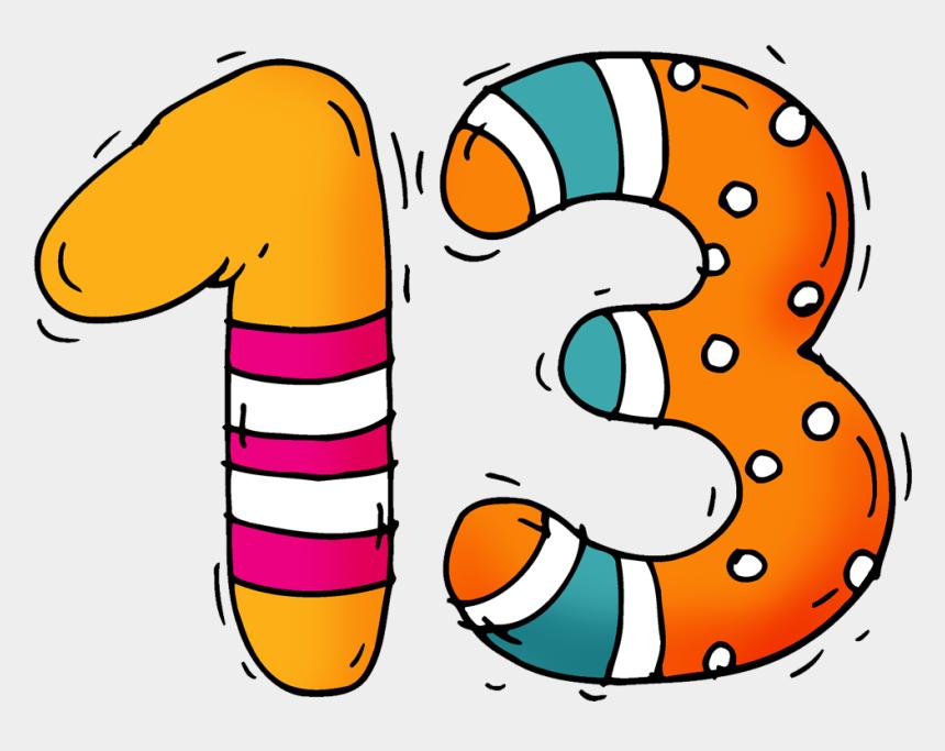 13-thirteen - - Thirteen Number 13 Clipart, Cliparts ...