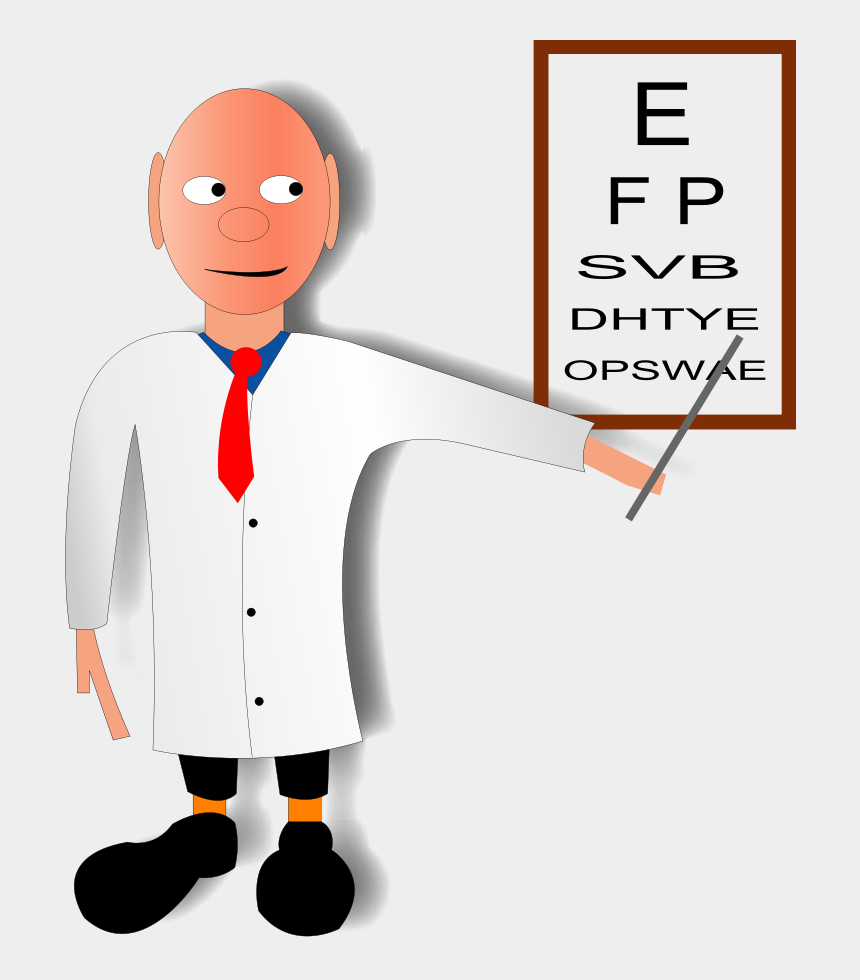 doctor clipart png, Cartoons - Free Doctor Clipart - Doctor Doing Eye Test