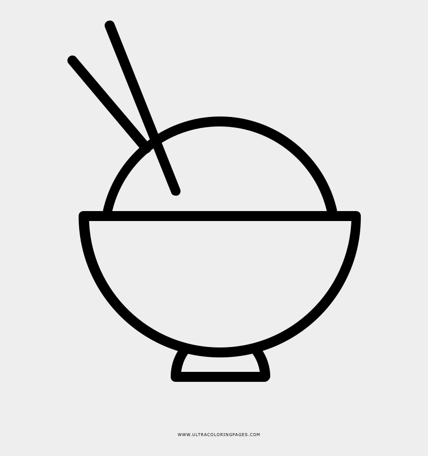 rice bowl clip art, Cartoons - Rice Coloring Page - Icon