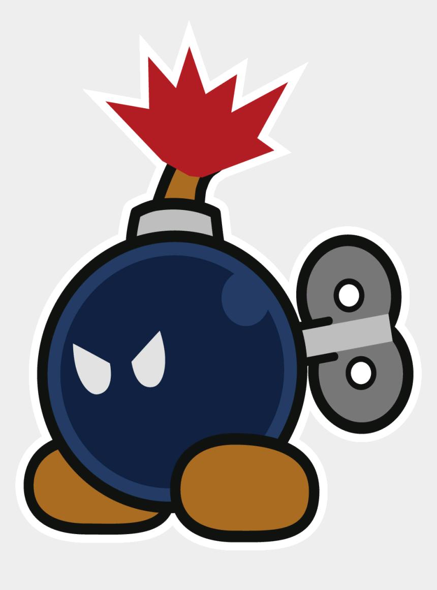 bomb exploding clipart, Cartoons - Big Bob-omb - Paper Mario Color Splash Bob Omb