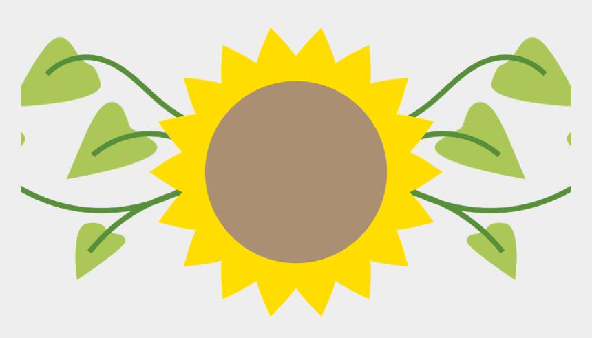 sun flower clipart, Cartoons - Sunflowers Clipart Divider - Clipart Sunflower