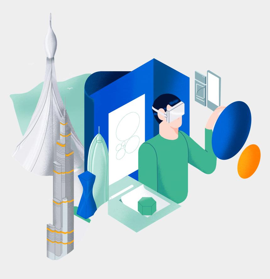 table work clip art, Cartoons - Digital Agency Illustration - Modern Illustration Graphic Design