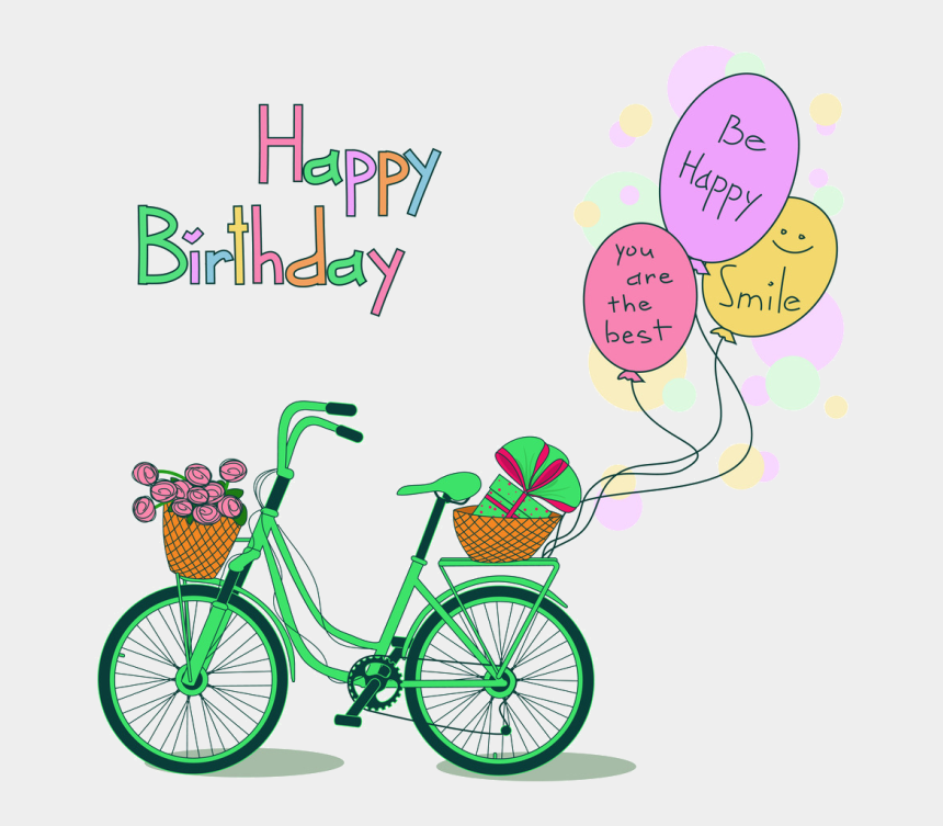 party supplies clip art, Cartoons - Joyeux Anniversaire,happy Birthday - Happy Birthday Bicycle Gif